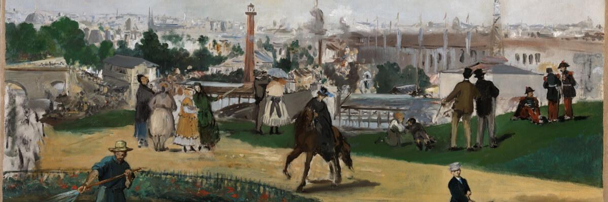 Christine Tauber zur Frage, wieso Manet die Weltausstellung von außen malte