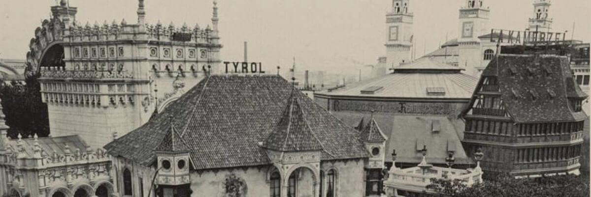 """Krista Profanter über das """"Château Tyrolien"""" auf der Pariser Weltausstellung 1900"""