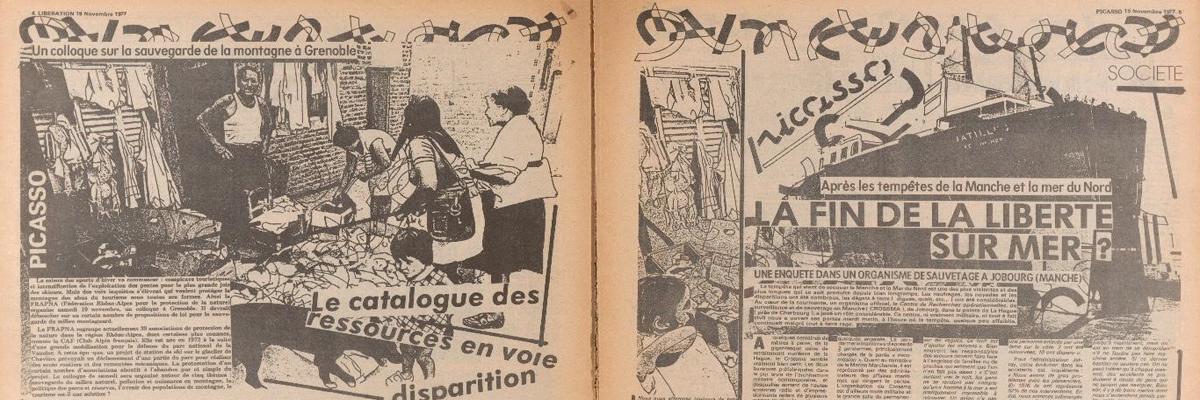 Rüdiger Hoyer et Julia Bondl présentent le Catalogue en ligne des interventions graphiques du groupe d'artistes Bazooka dans le quotidien Libération en 1977/78 (II)