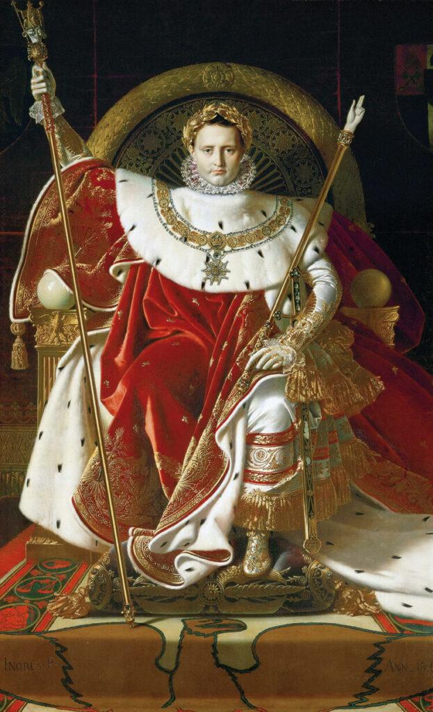 Abb. 2 Jean-Auguste-Dominique Ingres, Napoleon auf dem Kaiserthron, 1806. Öl/Lw. Paris, Musée de l'Armée, Hôtel des Invalides (https://de.wikipedia.org/wiki/Datei:Ingres,_Napoleon_on_his_Imperial_throne.jpg)