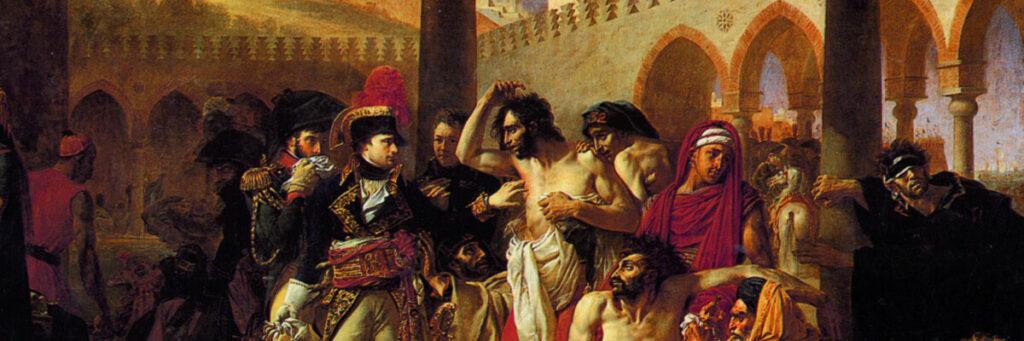 Antoine-Jean Gros, Napoleon besucht die Pestkranken von Jaffa (Detail)