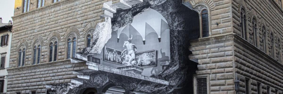Henry Kaap über die Wunde im Antlitz des Palazzo Strozzi. JR in Florenz